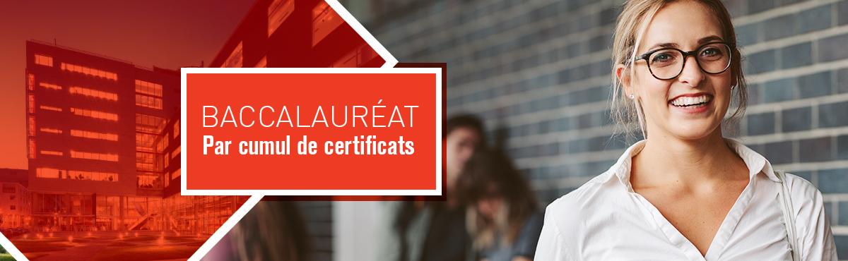 Baccalauréat en administration (par cumul de certificats)