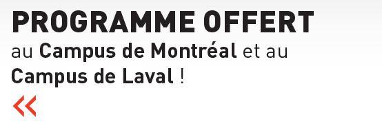 Le DESS en gestion est offert au campus de Montréal et au campus de Laval
