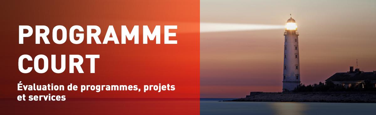 Programme court de 2e cycle en évaluation de programmes, projets et services