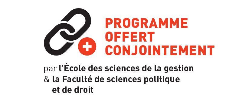 Le baccalauréat en gestion publique est offert conjointement avec la Faculté de sciences politique et de droit.