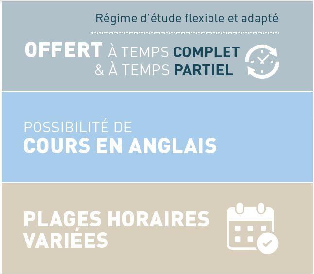 Le certificat en finance est offert à temps complet et à temps partiel, offre des cours en anglais et des plages horaires variées